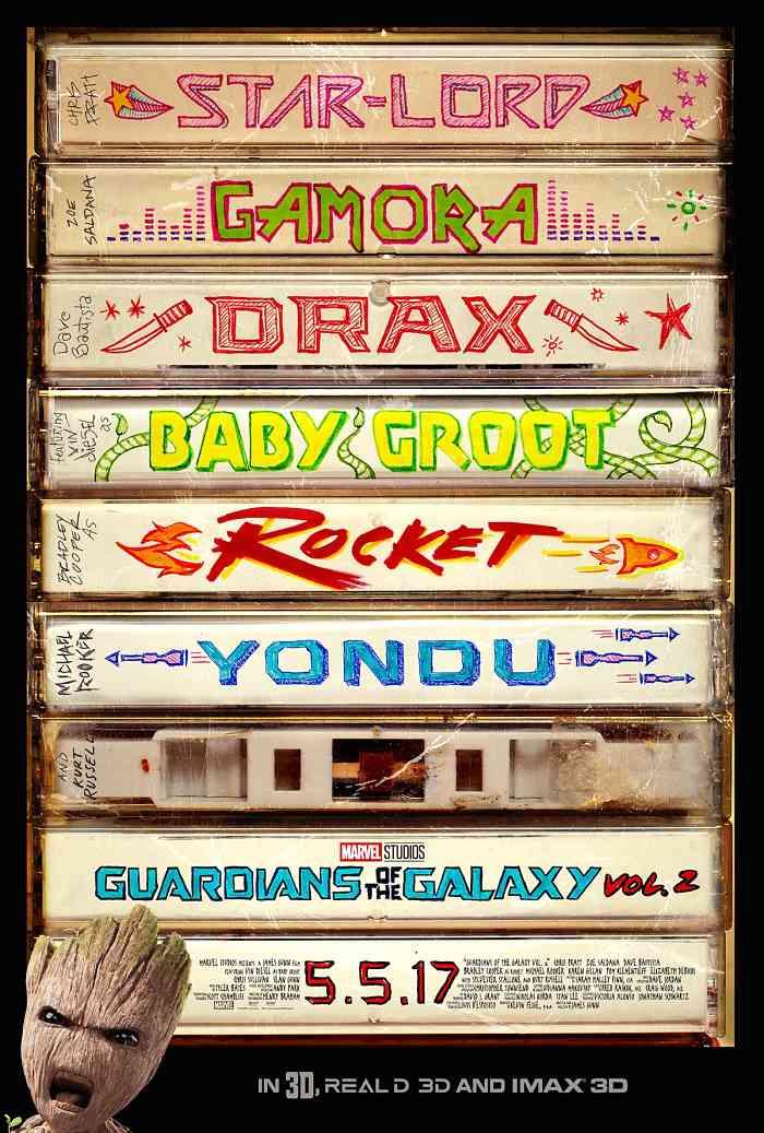 Póster de Guardianes de la Galaxia vol. 2, de Marvel