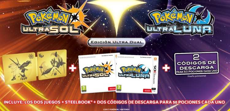 ediciones especiales de Pokémon Ultrasol y Ultraluna