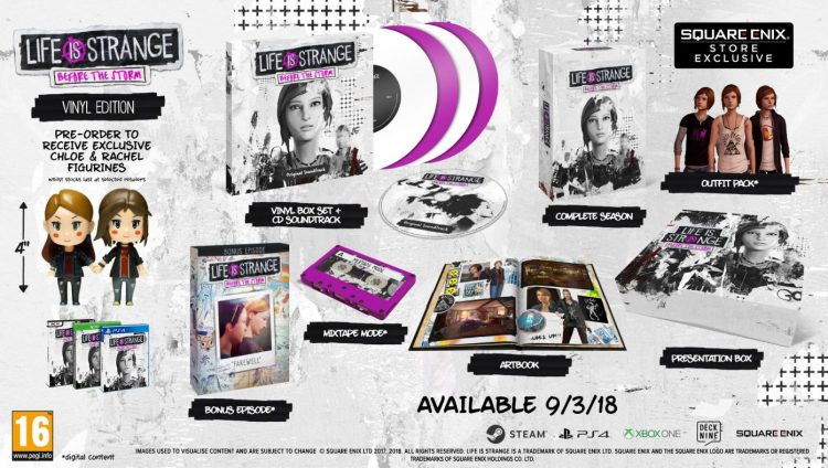 formato físico de Life is Strange: Before the Storm