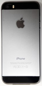 iPhone 5s フィルム貼り後 裏面