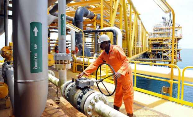 Plataforma petrolífera en el delta del Niger.