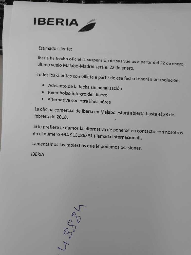 Comunicado_iberia_Guinea_Ecuatorial