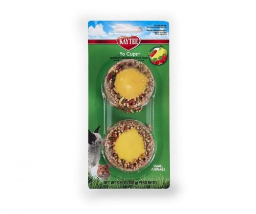 Kaytee Fiesta Yogurt Cup Strawberry Banana Flavored Treat for Small Animals