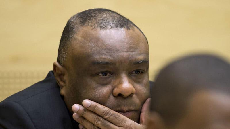 L'ancien vice-président congolais Jean-Pierre Bemba lors de son procès devant la CPI, le 29 septembre 2015 à La Haye afp.com/PETER DEJONG