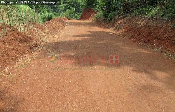 La route de Kéréma près de l'abattoir