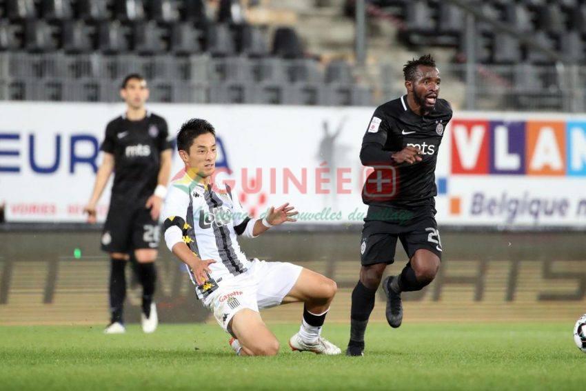 Seydouba Soumah a joué avec le Partizan lundi. (V. Van Doornick/Isosport)