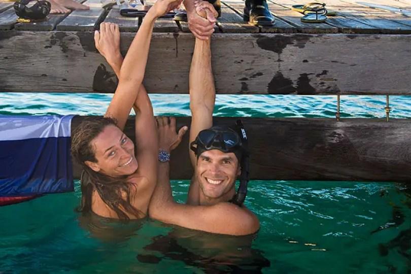 Fotos, Curiosidades, Comunicação, Jornalismo, Marketing, Propaganda, Mídia Interessante Carlos-and-Marina_tcm25-481878 Mergulhador quebra recorde percorrendo 177 metros sem respirar Curiosidades  Recorde em mergulho