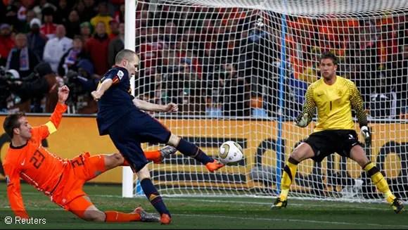 Image result for iniesta goal 2010