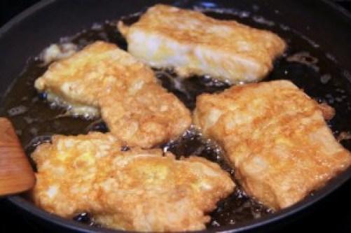 merluza frita, merluza a la romana, merluza rebozada, merluza frita como dios manda