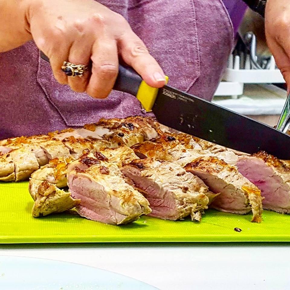 solomilos de cerdo criado con castañas