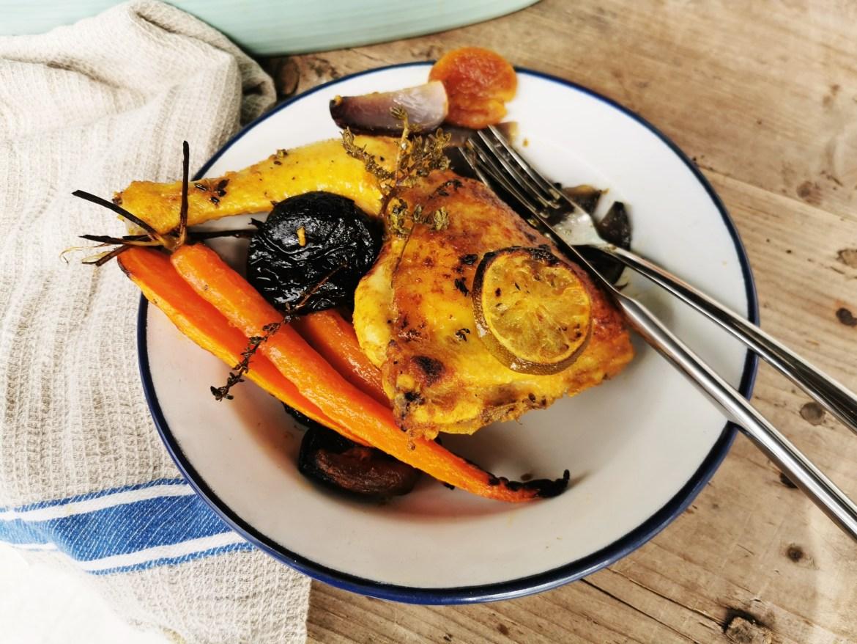 pollo asado a la marroquí.