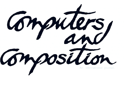 "The Computers and Composition logo, published to ""Mapping Personas: Designing UX Relationships for an Online Coastal Atlas"" and ""The Story/Test/Story Method: A Combined Approach to Usability Testing and Contextual Inquiry"""