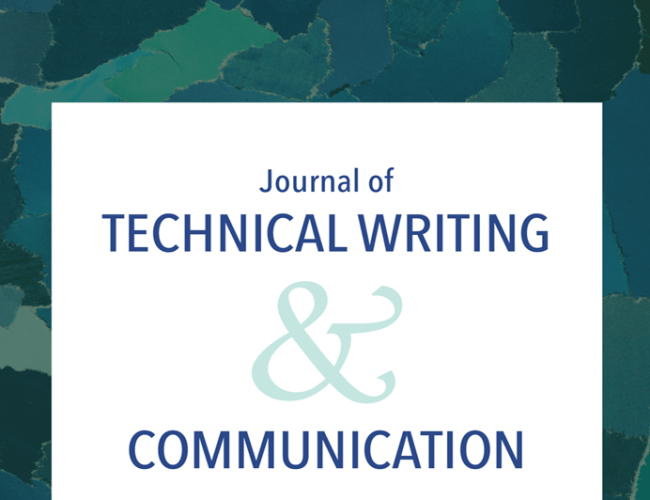 The Journal of Technical Writing and Communication logo, published to Content Strategy: People, Practices, and Technologies