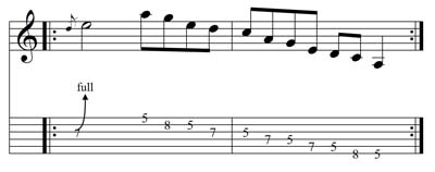 Chitarra Rock: Esercizio sul bending n. 2