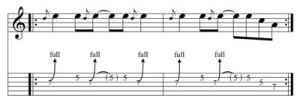 Chitarra Rock: esercizio sul bending n. 3