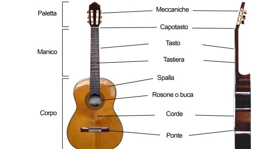 Lezione 1: le parti della chitarra classica