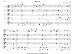 Minuet in G --S preview