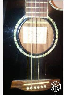 Guitare Folk Lectro Acoustique Ibanez Aeg 10 Noir Vendre