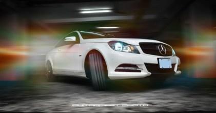 –三芒夜星– Mercedes Benz C Coupe 夜拍拍攝