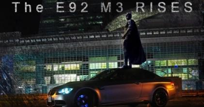 –暗夜蝙蝠– BMW E92 M3 Coupe 消光灰 拍攝開箱