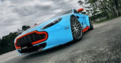 Aston Martin Vantage GULF配色貼膜小記 By 吉他腳GuitarFeet