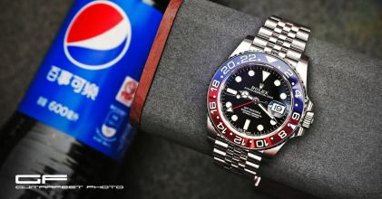 百事可樂 – Rolex 勞力士 126710 BLRO GMT Master II 紅藍開箱 By 吉他腳 GuitarFeet