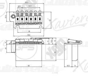 USA Strat® 2 Point Hardened Steel Upgrade Tremolo System