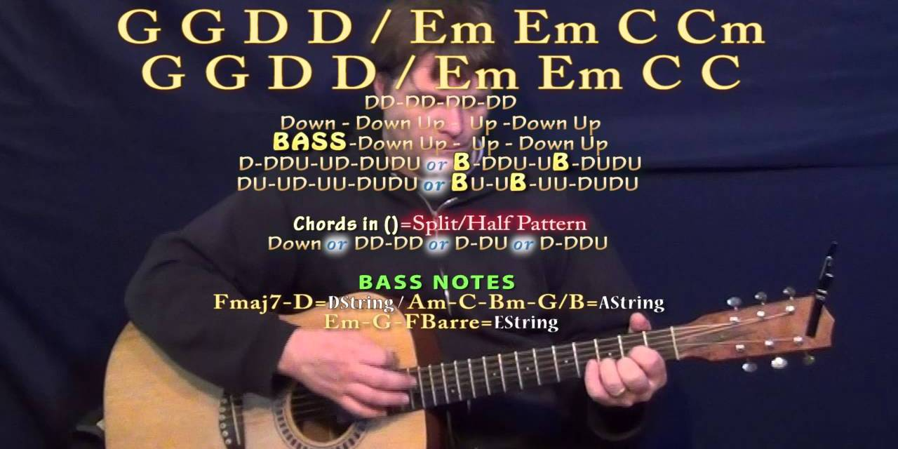 Head Over Boots Jon Pardi Guitar Lesson Chord Chart Guitar Grotto