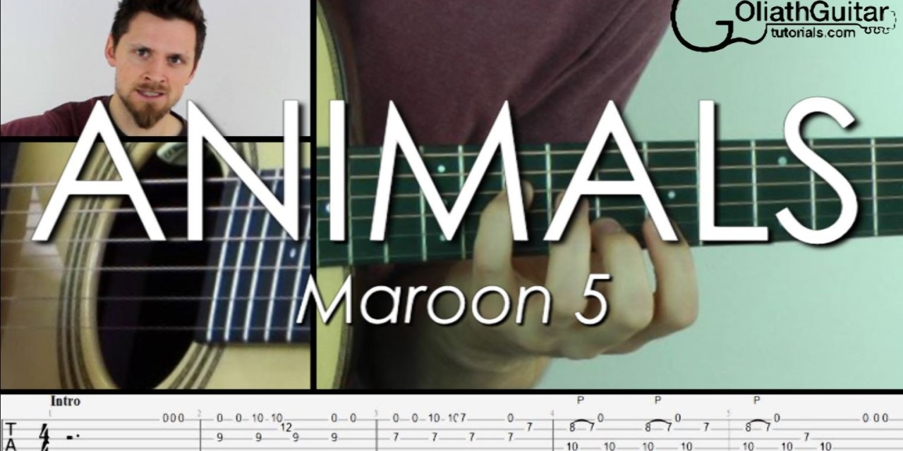 Animals maroon 5 guitar
