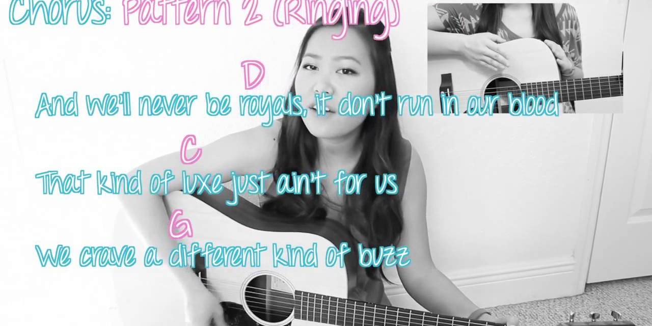 Royals Lorde Easy Guitar Tutorial Chords No Capo Online Video