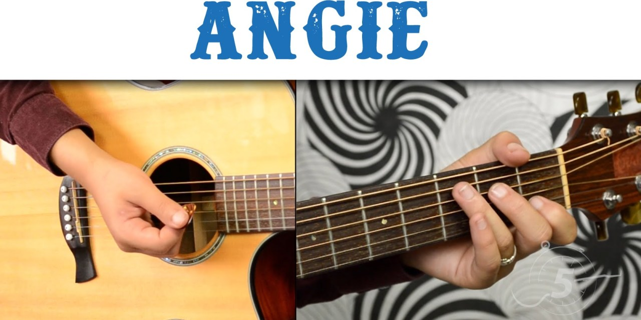 How To Play Angie By The Rolling Stones Easy Version Chords And