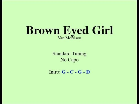 Brown Eyed Girl Easy Guitar Chords And Lyrics Guitar Grotto