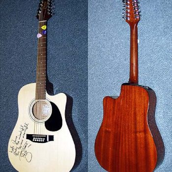David Bowie Autographed Stage-Played 12 String Takamine