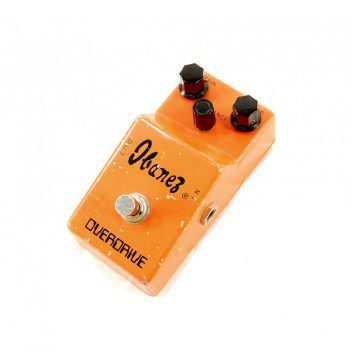 Rare Vintage 1970's Ibanez Orange Body Overdrive Guitar Effects Pedal