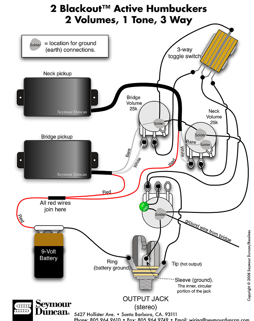 Collection Emg Pickups Wiring Diagram Pictures - circuit diagram ...
