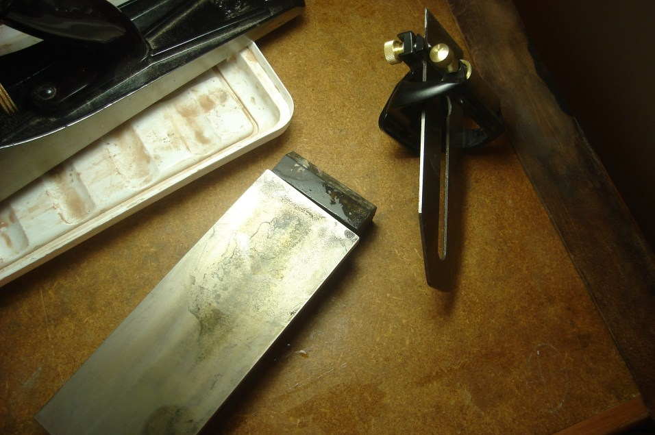 Blade sharpening setup