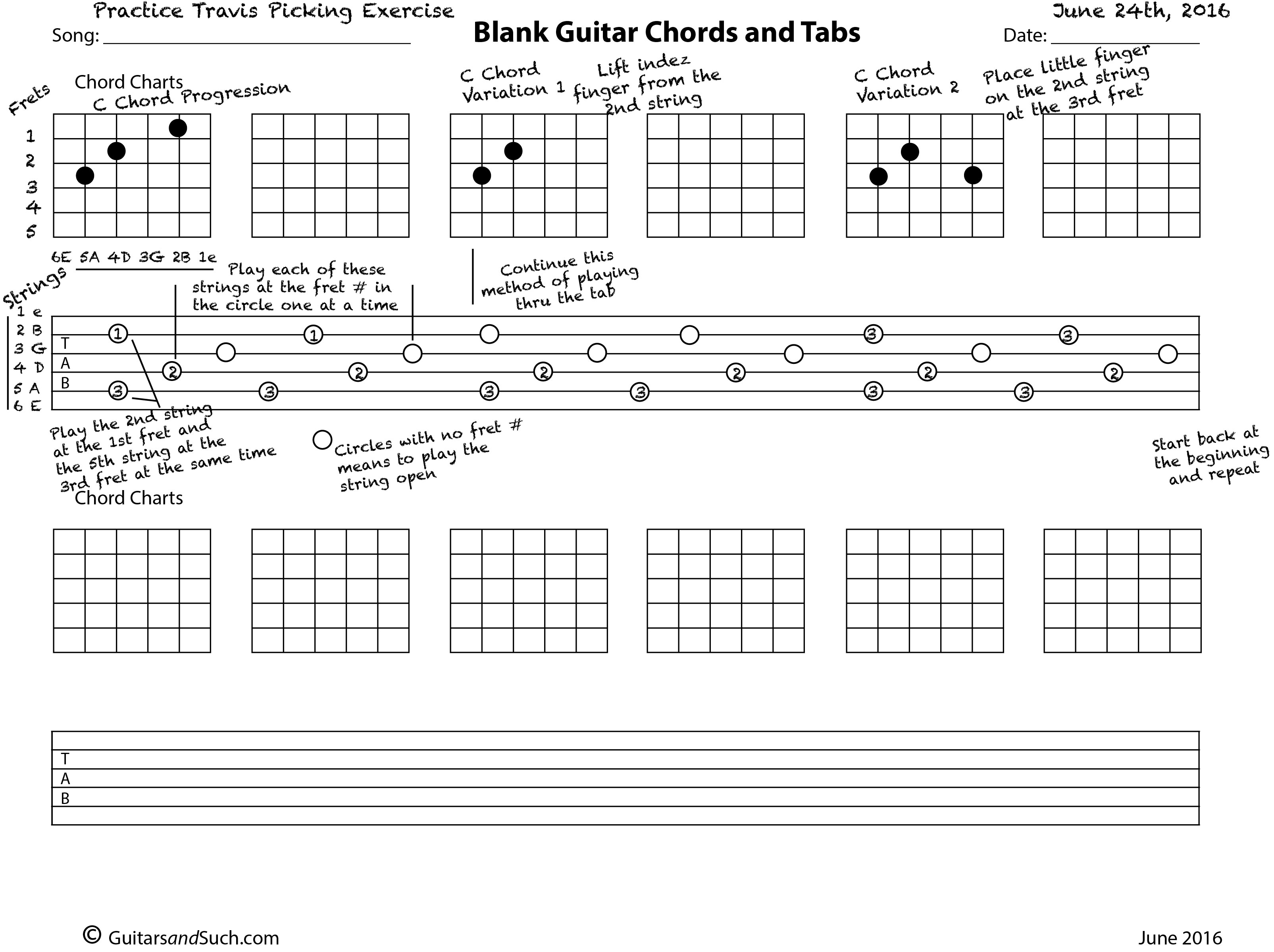 How To Use The Blank Guitar Chords And Tabs