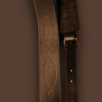 Mugo Slim Leather Guitar Strap   Black (Suitable for Bass/Electric/Acoustic)