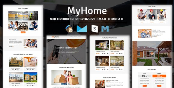NOVA - Multipurpose Responsive Email Template With Stampready Builder & Mailchimp Access - 3