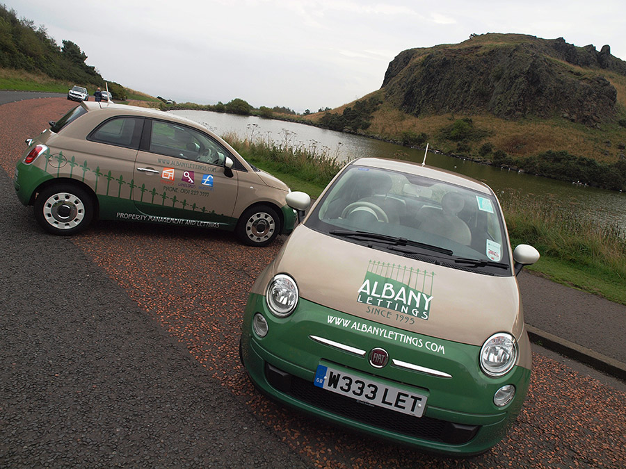 Car livery design for Albany Lettings