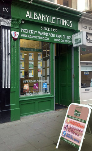 Shop Front for Albany Lettings