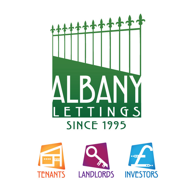 Albany Lettings: Logo with icons