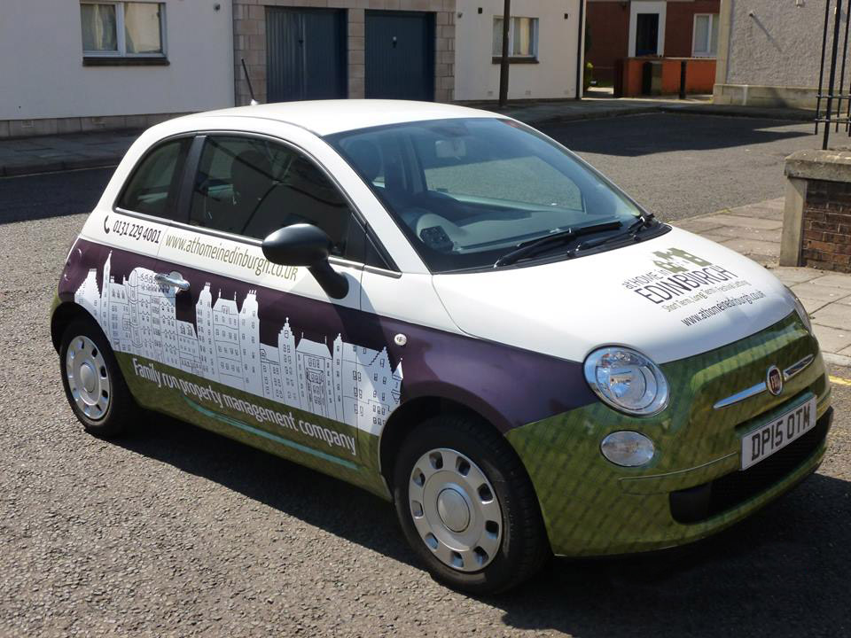 Fiat 500 Livery for At Home in Edinburgh