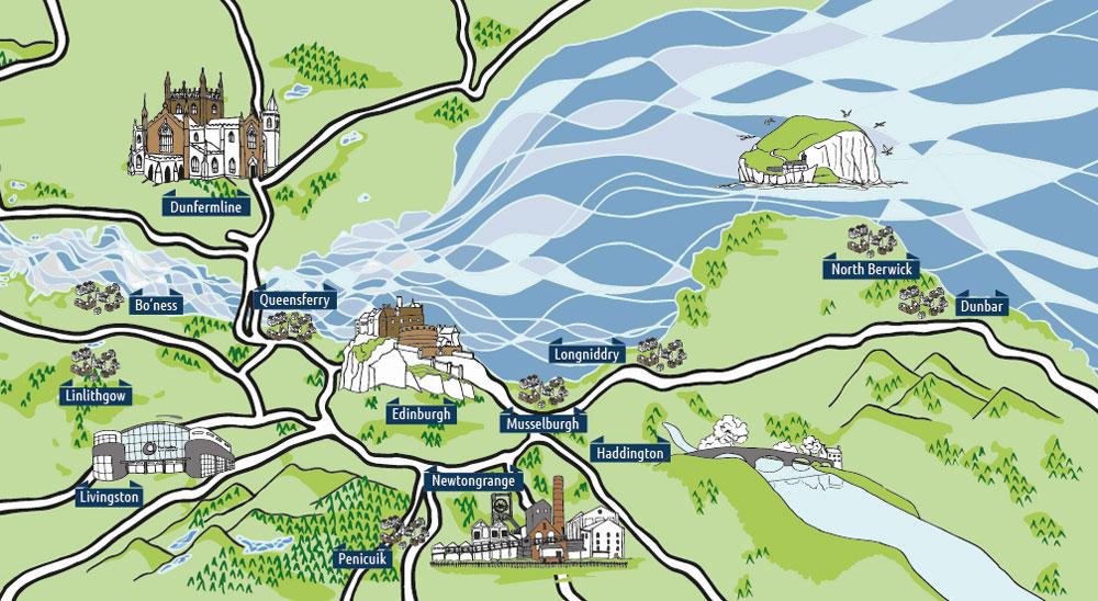 Central Belt Leaflet Distribution - Central Scotland Map