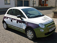 Fiat 500 graphics for At Home in Edinburgh
