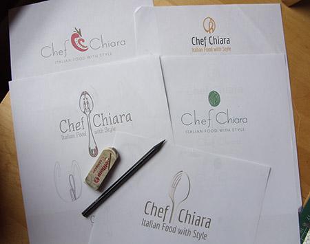 Logo design options for Chef Chiara