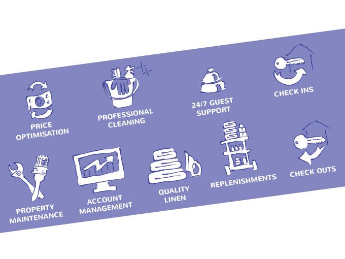 Icon Set design for Cloud 9 apartments