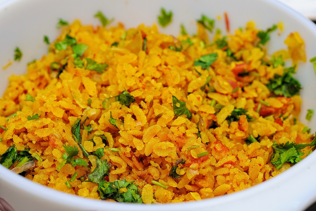 Kanda Batata Poha (Flattened Rice)