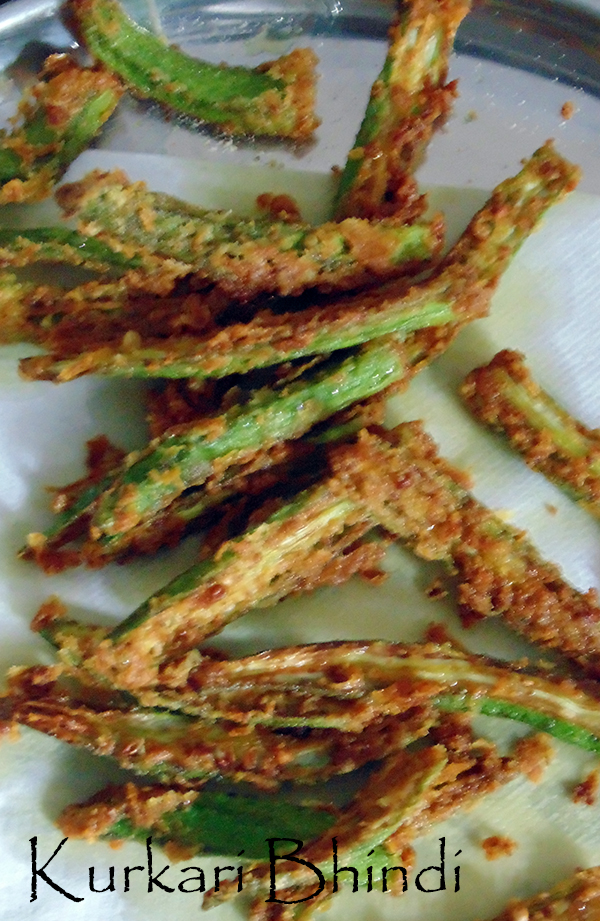 Kurkuri Bhindi (Crispy Okra Or Fry Bhindi)
