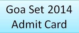 GSET 2014 Admit Card